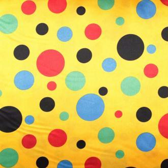 Tissus à pois satin de carnaval - Multicolore - Largeur 148cm - Vendu par 50cm