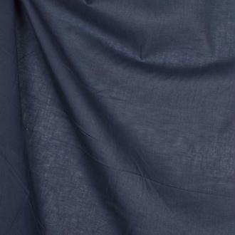 Tissu voile de coton uni - Bleu marine- Par 50cm