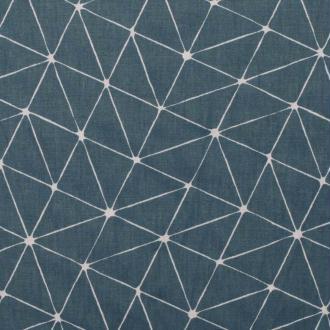 Tissu coton cretonne graphique origami - Bleu - Largeur 160cm - Vendu par 50cm