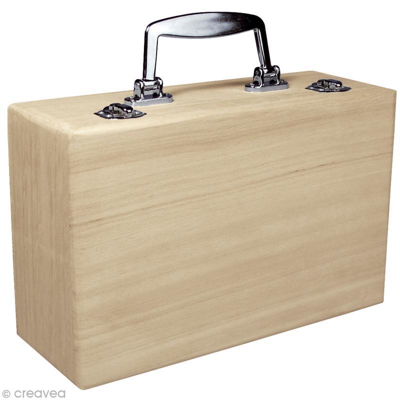 Valise en bois d corer 25 cm objets divers d corer creavea - Valise en bois ancienne ...
