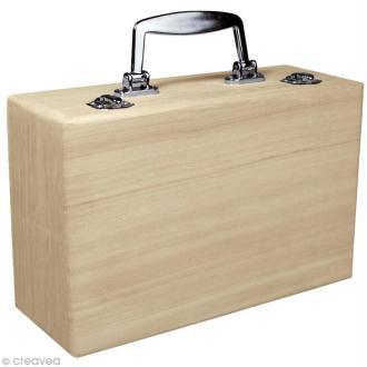 Valise en bois à décorer 25 cm