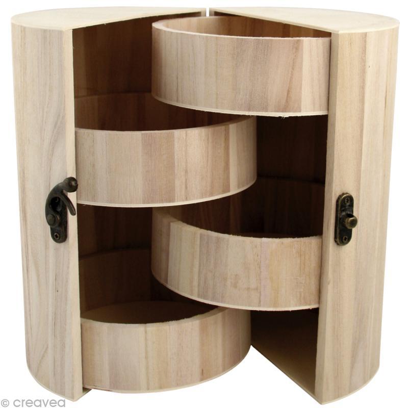 bo te bijoux pliante en bois d corer 21 cm boite. Black Bedroom Furniture Sets. Home Design Ideas