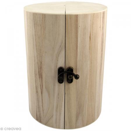 Bo te bijoux pliante en bois d corer 21 cm boite for Boite bois a decorer