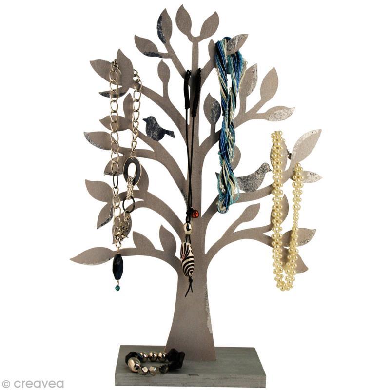 arbre bijoux en bois 50 cm porte bijoux d corer creavea. Black Bedroom Furniture Sets. Home Design Ideas