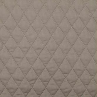 Tissu piqué de coton matelassé uni - Taupe - Largeur 150cm - Vendu par 50cm