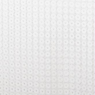 Tissu dentelle rond - Blanc cassé - Largeur 140cm - Vendu par 50cm