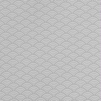 Tissu coton cretonne vague japonaise - Gris clair - Largeur 160cm - Vendu par 50cm