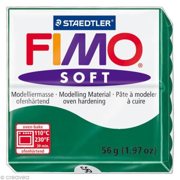 Pâte Fimo soft Vert Emeraude 56 - 56 gr - Photo n°1