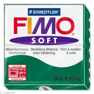 Pâte Fimo soft Vert Emeraude 56 - 56 gr