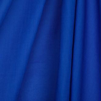 Tissu voile de coton uni - Bleu électrique- Par 50cm