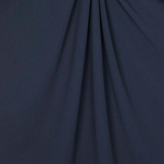 Tissu crêpe uni - Bleu marine - PAR 50CM
