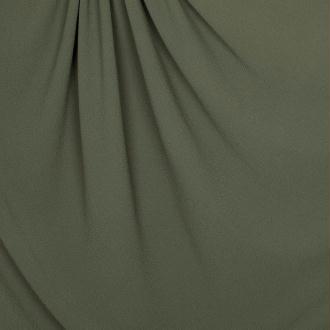 Tissu crêpe uni - Vert kaki - PAR 50CM