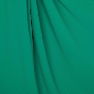 Tissu crêpe uni - Vert émeraude- Par 50cm