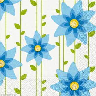 Serviette en papier Fleur Simple blue