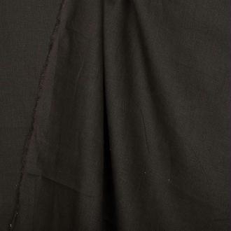 Tissu lin uni marron café - Largeur 140cm - Vendu par 50cm
