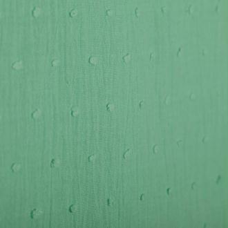 Tissu coton plumetis uni - Vert d'eau- Par 50cm