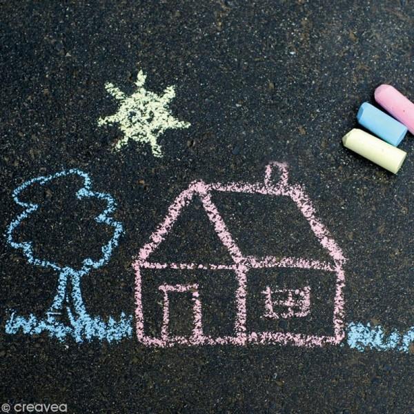 Craie pour trottoir x 8 couleurs - Photo n°2