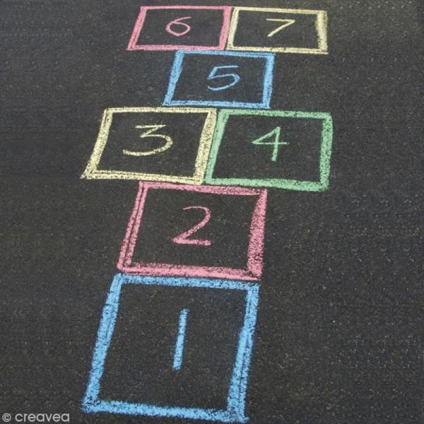 Craie pour trottoir x 8 couleurs - Photo n°3
