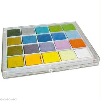 Palette de 20 craies pastels pour scrapbooking