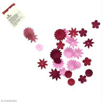 Fleur en papier rouge x 36