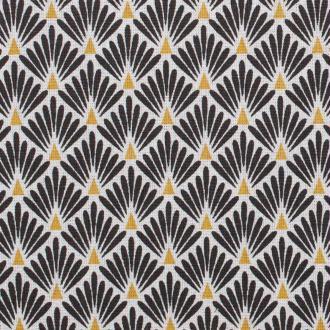 Tissu coton cretonne écailles dorées - Noir- Par 50cm - Oeko-Tex®