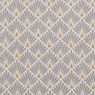 Tissu coton cretonne écailles dorées - Beige- Par 50cm - Oeko-Tex®