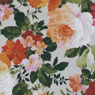 Tissu toile coton floral vintage- Par 50cm