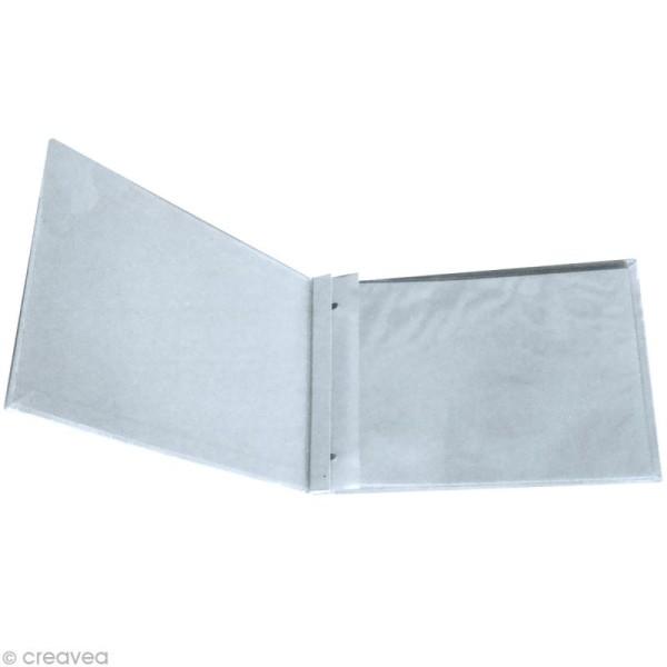 Album Blanc à vis pour scrapbooking 32 x 35 cm - 20 feuilles de papier 180 g - 10 housses - Photo n°1