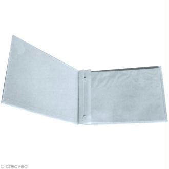 Album Blanc à vis pour scrapbooking 32 x 35 cm - 20 feuilles de papier 180 g - 10 housses