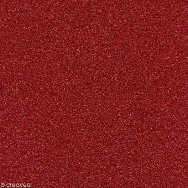Papier Paillettes Rouge Cardinal Scrapbooking 30,5 x 30,5 cm - Photo n°1