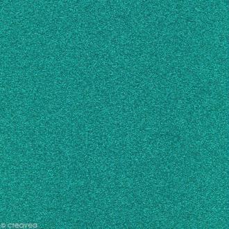 Papier Paillettes Turquoise Scrapbooking 30,5 x 30,5 cm