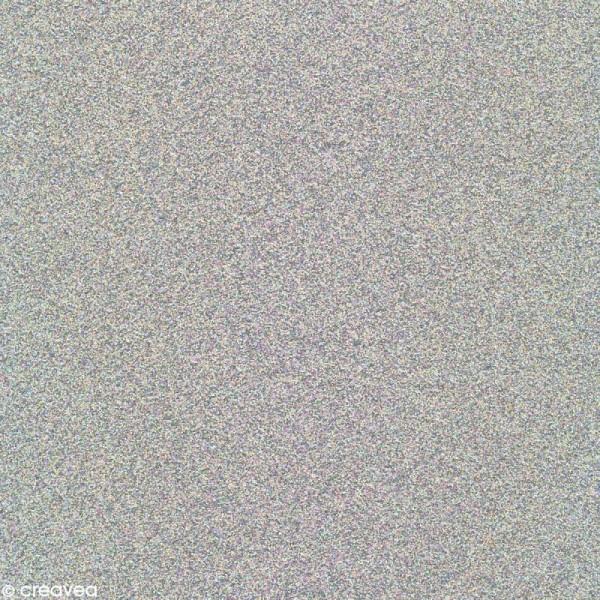 Papier Paillettes Argent irisé Scrapbooking 30,5 x 30,5 cm - Photo n°1