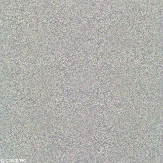 Papier Paillettes Argent irisé Scrapbooking 30,5 x 30,5 cm