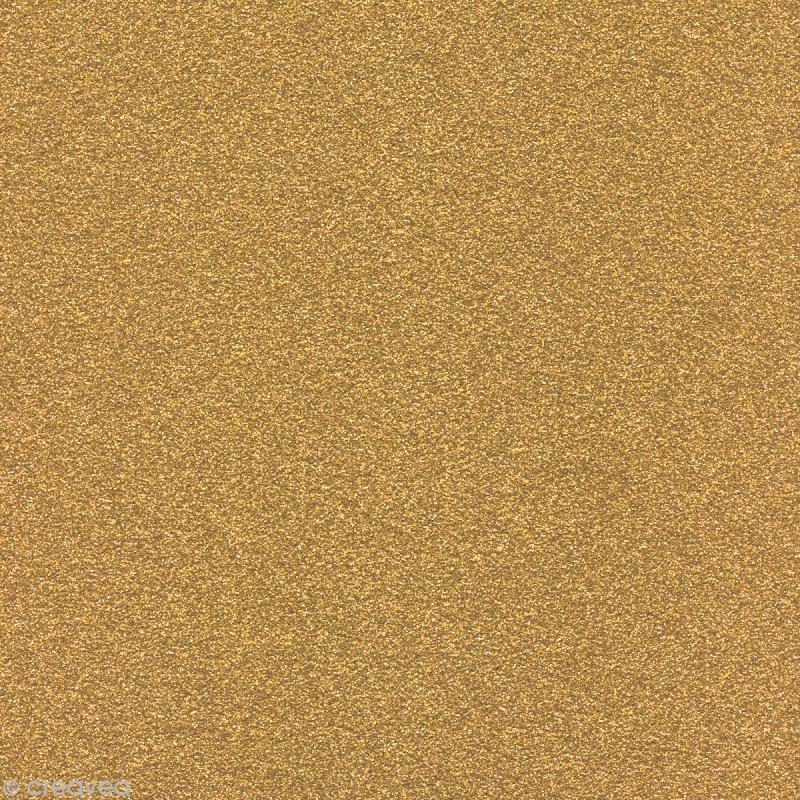 Papier Paillettes Or Scrapbooking 30,5 x 30,5 cm - Photo n°1