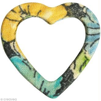 Coeur en Tissu 2,5 cm - Vert Bleuâtre