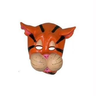 Masque Animal Enfant Vinyle Souple 4 Modèles d'Animaux Masque:Tigre