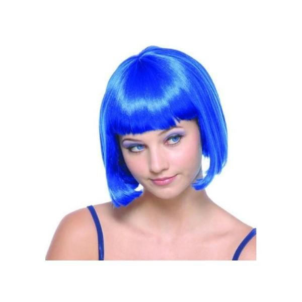 Perruque bleue courte femme