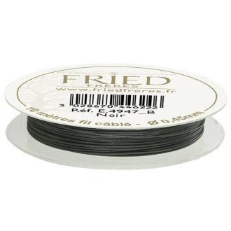Fil câblé couleur Noir - Bobine de 10 mètres - diam. 0,45 mm