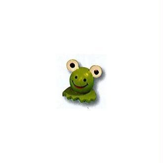 Têtes de grenouille 3D en bois