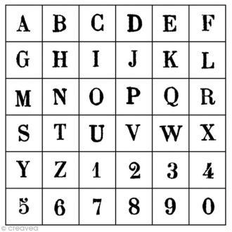 Tampon alphabet Artemio arial majuscule 1,5 cm