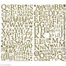 Sticker alphabet scrapbooking Or pailleté x 300 - Photo n°1
