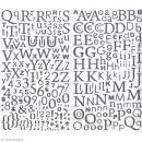 Sticker alphabet scrapbooking Argent pailleté x 300 - Photo n°1
