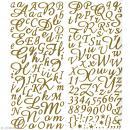 Sticker alphabet scrapbooking Or pailleté script x 177 - Photo n°1