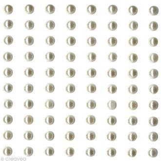 Perles à coller Ivoire 5 mm x 80