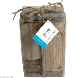 Bois flotté deco - Blocs rectangulaires 5 à 12 cm - 500 g