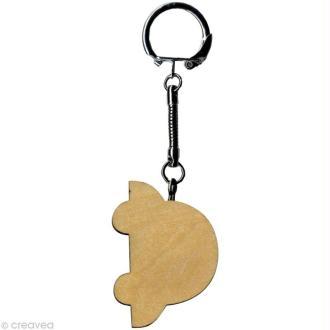 Porte clé Voiture à décorer en bois