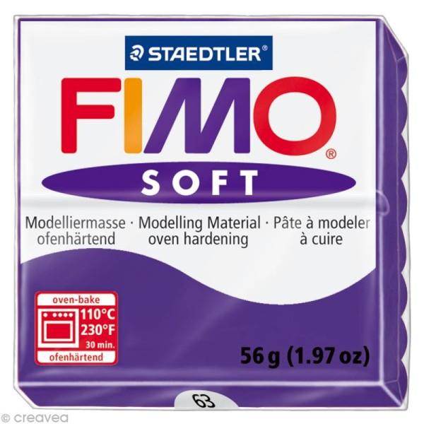 Pâte Fimo soft Violet prune 63 - 56 gr - Photo n°1