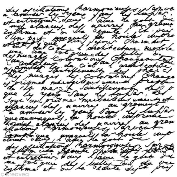 Tampon bois Artemio mariage Carré manuscrit - Photo n°1