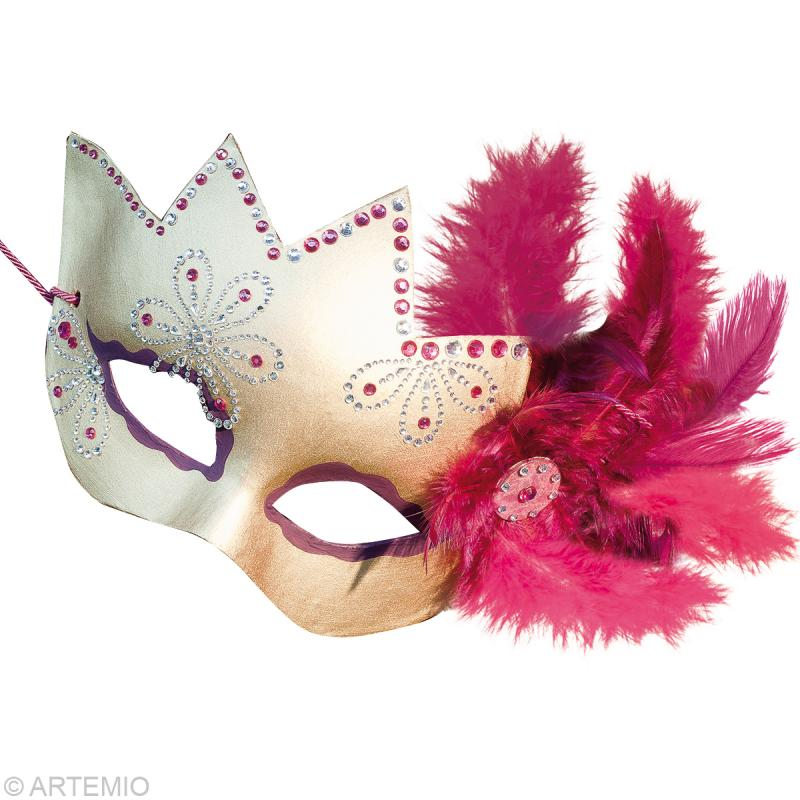 Masque de venise loup couronne masque creavea - Masque de loup a fabriquer ...