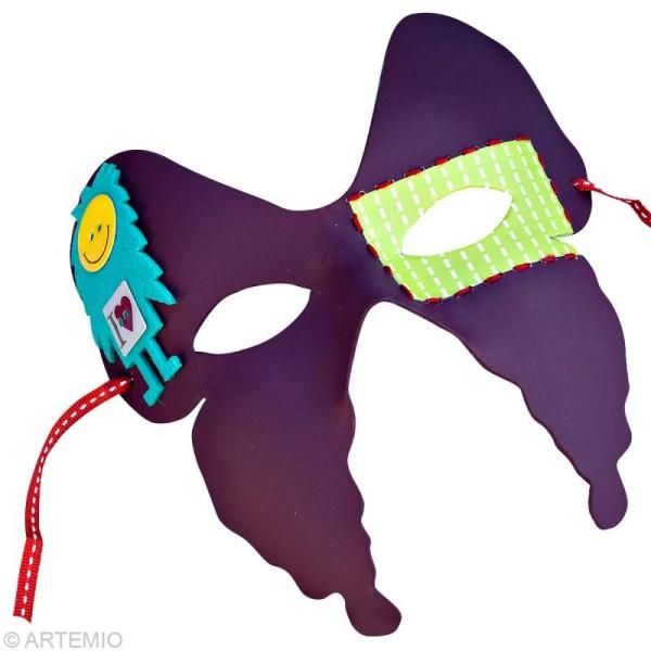 Masque Loup Ailes de papillon x 2 - Photo n°3